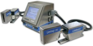 Limitag V5 - high resolution coding industrial printer. Barcodes, logos and text. Up to 4 independent printheads.